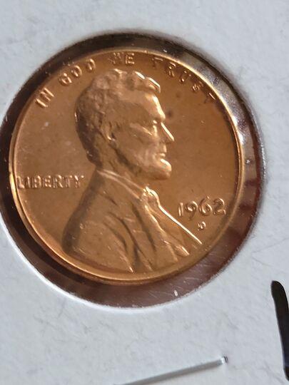 1962 d penny Item Image