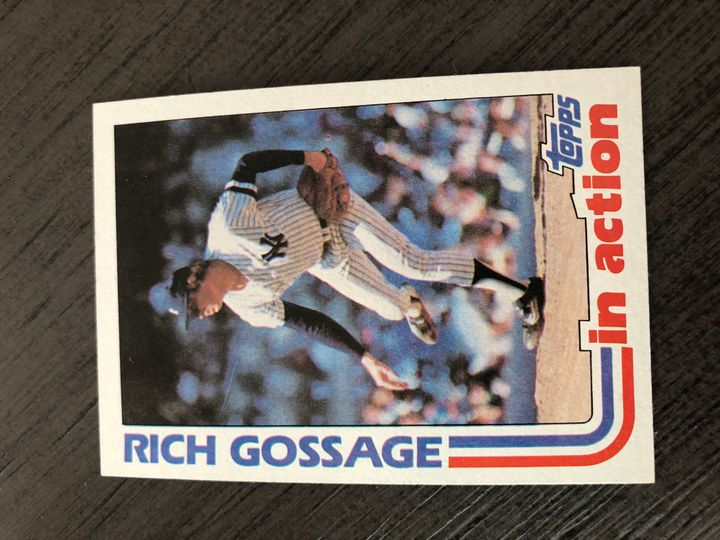 1982 TOPPS RICH GOSSAGE 771 Item Image